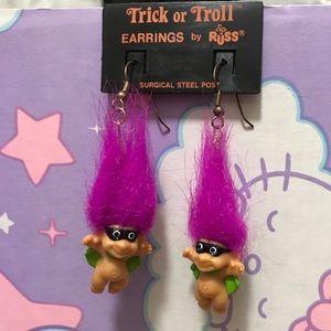 Russ Trick or Troll vintage earrings
